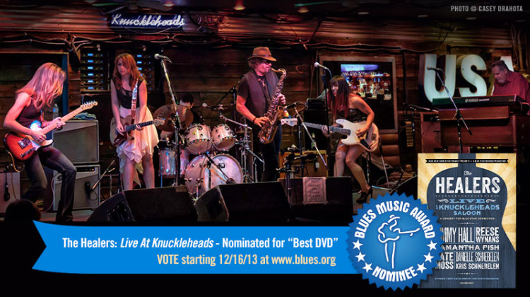 The Healers Live at Knuckleheads CD/DVD – Nominated for 2014 BMA! Get Your Copy – And VOTE!