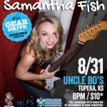 Samantha Fish Live at Uncle Bo's – TBS Gear Drive for Blue Star Connection!