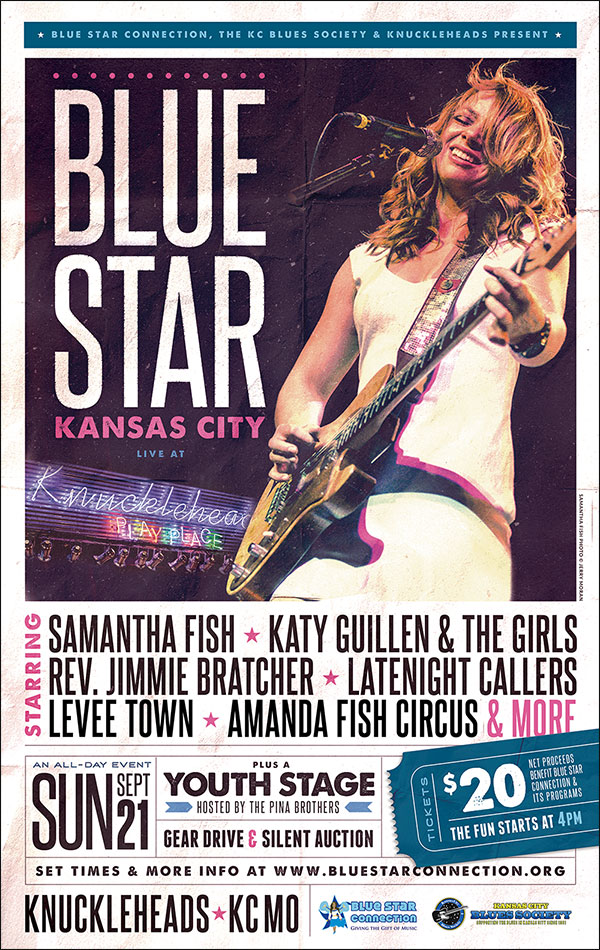 Blue Star Kansas City: Samantha Fish, Katy Guillen, Rev. Jimmie Bratcher & much more!