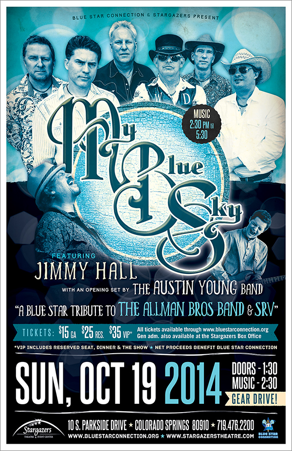 Blue Star Colorado Springs: My Blue Sky with special guest Jimmy Hall – Tribute to Allman Bros and SRV
