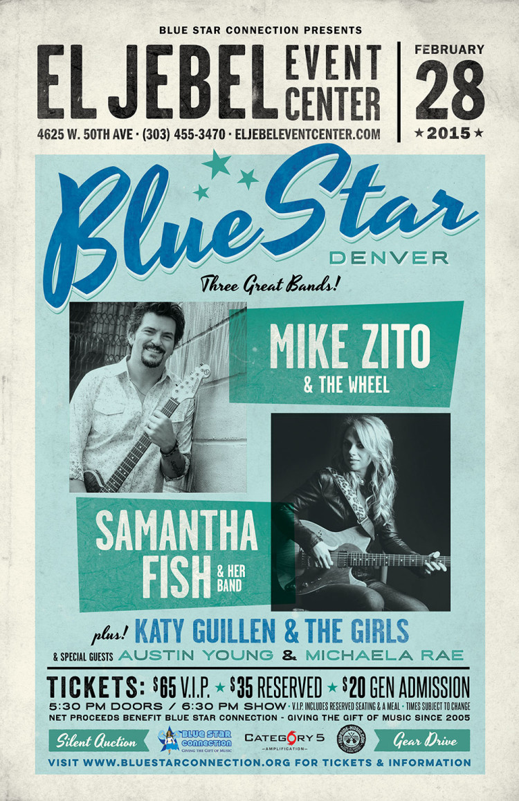 Blue Star Denver 2015: Mike Zito & the Wheel, Samantha Fish Band, Katy Guillen & the Girls + special guests!