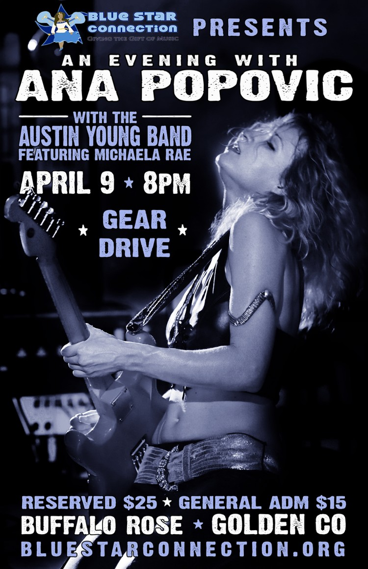 April 9, 2016 – Blue Star Connection Presents Ana Popovic!