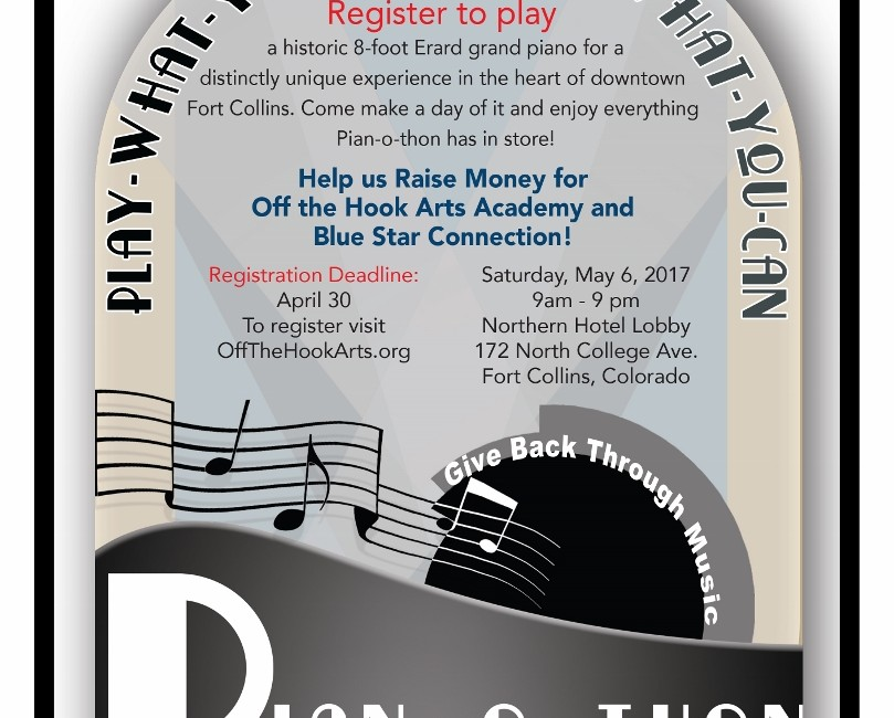 PIAN-O-THON May 6, 2017 to Benefit Blue Star Connection
